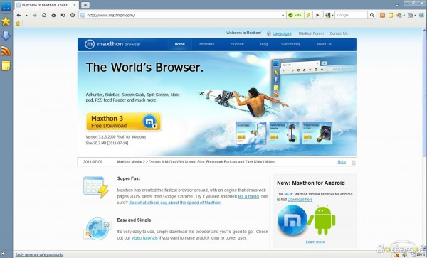 Baidu Browser makes Internet surfing easier